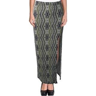 Material Girl Womens Juniors Maxi Skirt Jersey Side Slit