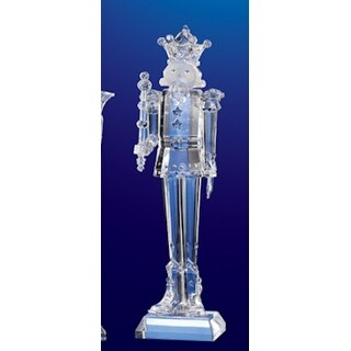 Club Pack of 12 Icy Crystal Decorative Christmas Nutcracker Figurines 6.5""