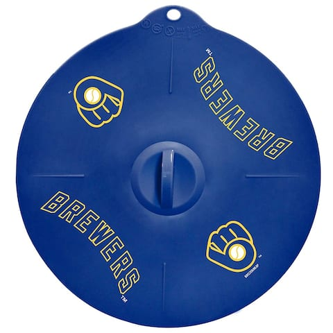 """Milwaukee Brewers 9"""" Silicone Lid"""