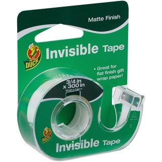 """Duck Invisible Tape With Dispenser .75""""X300""""-"""