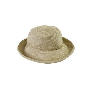 Nine West Beige Self-Braid Packable Kettle Hat OS