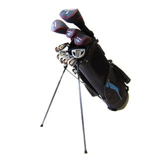 New Tommy Armour Men's AXIAL 16-Piece Complete Golf Set + Stand Bag - black / blue
