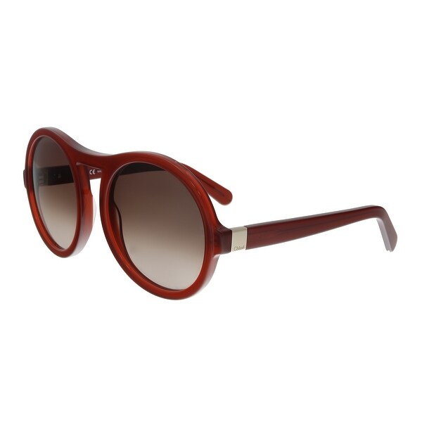 8cc1d09e Shop Chloe CE715S 223 Burnt Red Round Sunglasses - Free Shipping ...