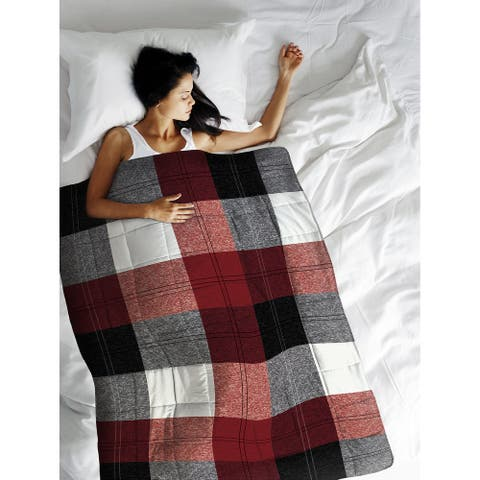 Weighted Blanket Winter Plaid