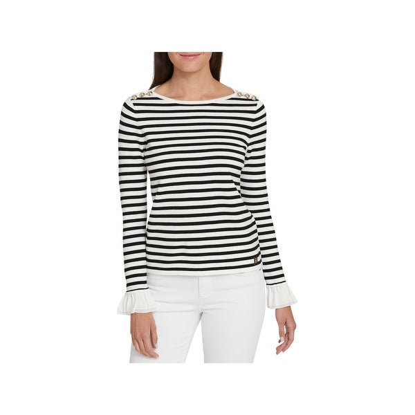 60f6002abe Shop Tommy Hilfiger Womens Pullover Sweater Striped Boatneck - Free ...