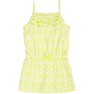 Carter's Little Girls' Spaghetti Strap Ruffle Yellow Print Pullover