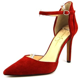 Jessica Simpson Carlette Women Round Toe Suede Red Heels