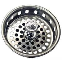 Danco 80900 Basket Strainer with Rubber Stopper, Chrome