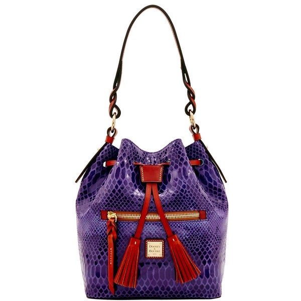 Dooney & Bourke Snake Small Logan (Introduced by Dooney & Bourke at $288 in Nov 2016) - Grape