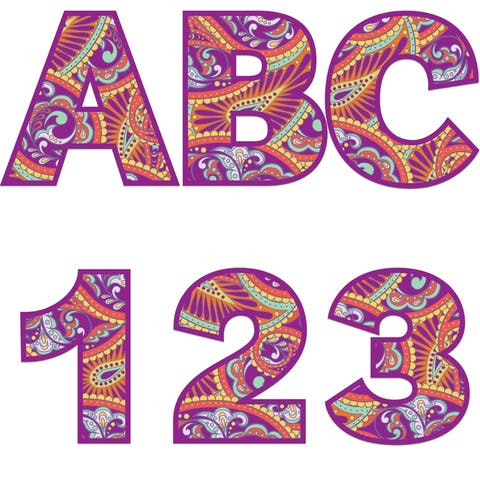 Positively Paisley Deco Letters, 184 Per Pack, 3 Packs