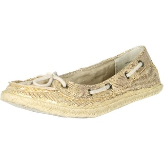 Not Rated Women's South Beach Boat Flat - Gold - 7 b(m) us