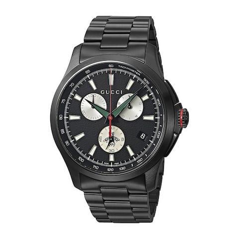 G-timeless Chronograph XL Black Dial Men's Watch - N/A