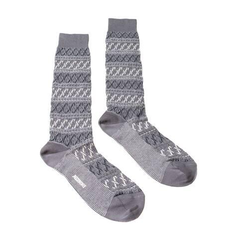 Missoni GM00CMU5243 0006 Gray/Black Knee Length Socks