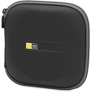 """Case Logic EVW-24BLACK Case Logic EVW-24 Optical Disc Case - Wallet - Ethylene Vinyl Acetate (EVA) - Black - 24 CD/DVD"""