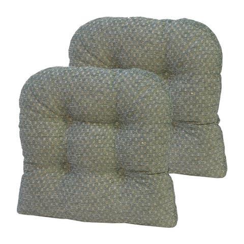 "Gripper Raindrops Universal 15"" x 15"" Chair Cushion, Set of 2"