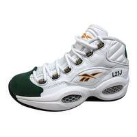 Reebok Men's Question Mid White/Sap Green-Harvest Green Lebron James V53579