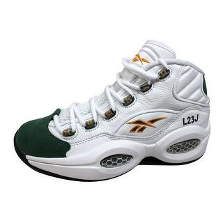 86ef7d00d72 Reebok Men s Question Mid White Sap Green-Harvest Green Lebron James V53579