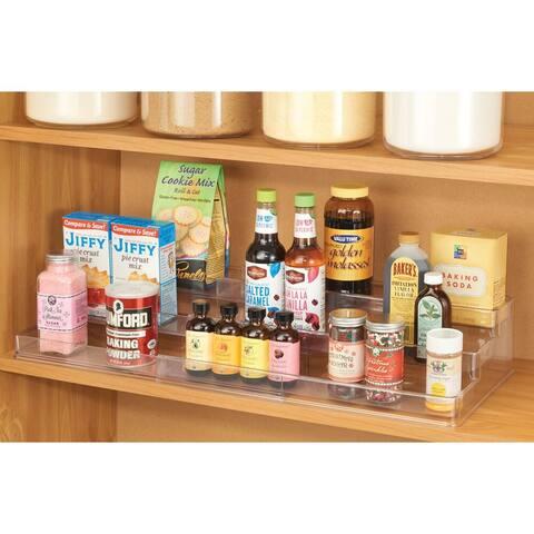 mDesign Large Expandable Spice Rack, Kitchen Storage Organizer, 2 Pack - 9.5 X 16.75