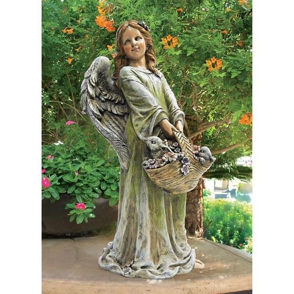 Design Toscano Joy, the Flower Angel Statue
