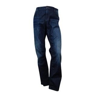 Boss Hugo Boss Men's Classic Fit Wash Jeans (Navy Blue, 40x32) - 40X32