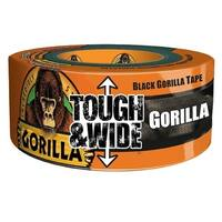 "Gorilla 6003001 Tough & Wide Incredibly Strong Duct Tape, Black, 2.88"" x 30 Yd"