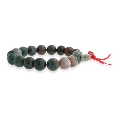 Bling Jewelry Imitation Fancy Jasper Mala Prayer Bead Stretch Bracelet