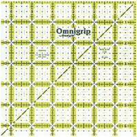 """6-1/2""""X6-1/2"""" - Omnigrip Non-Slip Quilter's Ruler"""