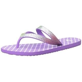 Sanuk Girls Lil Selene Crystal Flip-Flops Glitter