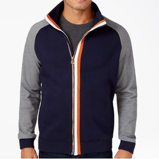 Sean John NEW Blue Mens Size 2XL Colorblocked Full-Zip Track Jacket