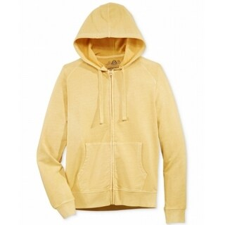 American Rag NEW Yellow Mens Size Medium M Hooded Full Zip Sweater