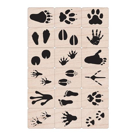 Ink 'n' Stamp Animal Prints Stamps, Set of 18 - One Size