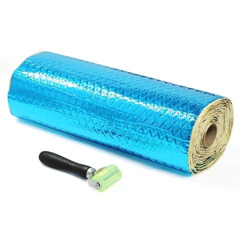 29.7sqft 80mil Blue Self-adhesive Car Audio Sound Deadener Heat Insulation Mat
