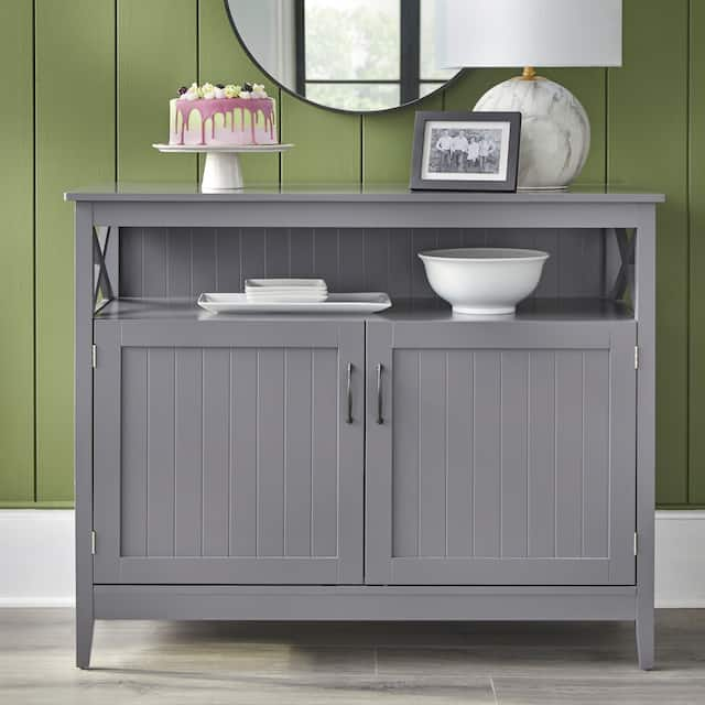 Simple Living Southport Dining Buffet - Charcoal Grey