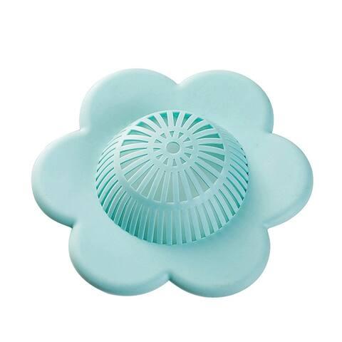 Flower Shape Bathtub Shower Drain Suction Cup Sink Hair Catcher Filter Strainer