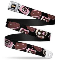 Steven Universe Logo Full Color Black Cookie Cat Pose Sandwich Black Pinks Seatbelt Belt