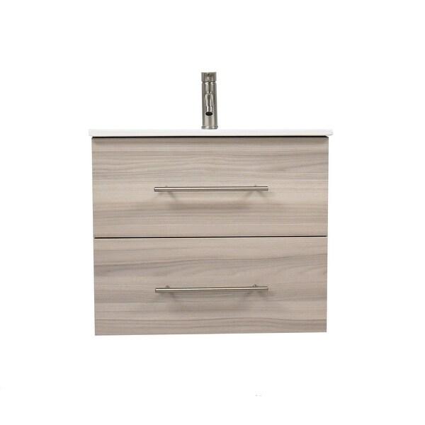 Volpa USA Napa 30-inch Ash Grey Wall-Mounted Floating Bathroom Vanity Set. Opens flyout.