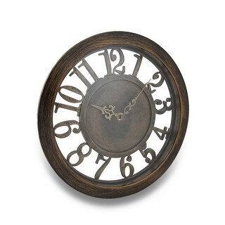 Antique Finish Cut Out Open Frame Design Wall Clock