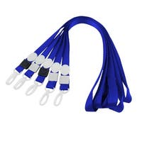 Unique Bargains 5pcs Swivel Clip ID Card Keys Badge Holder Lanyard Neck Strap Blue 42cm Long
