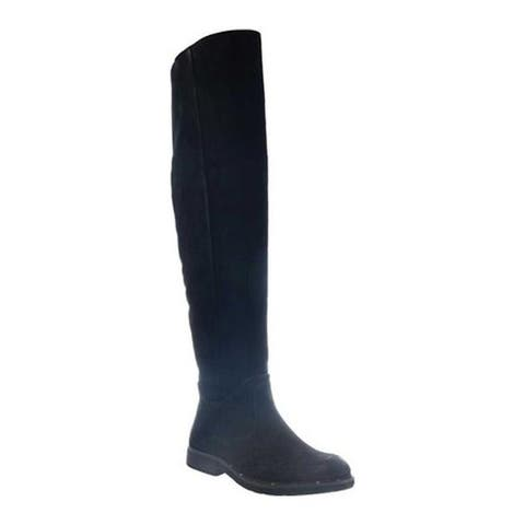 OTBT Women's Steerage Over The Knee Boot Black Suede Leather