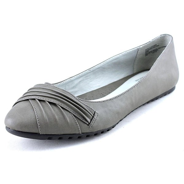 White Mountain Selina Pointed Toe Synthetic Flats