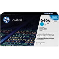 HP 646A Cyan Original LaserJet Toner Cartridge (CF031A)(Single Pack)