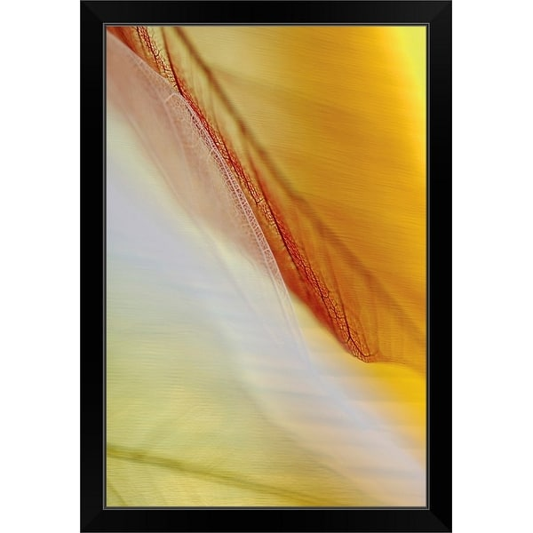 """""""Close-up of dried leaves"""" Black Framed Print"""
