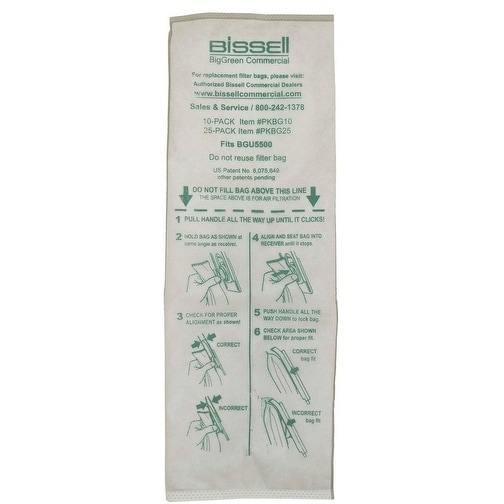 Bissell PKBG10 BigGreen Commercial Vacuum Bag, 10 Bag