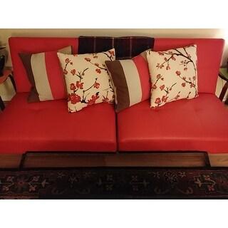Shop Safavieh Stripes 18 Inch Red Brown Decorative