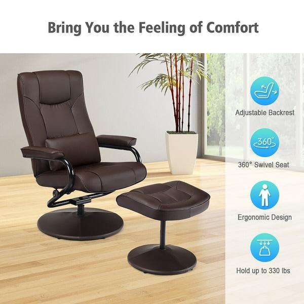 Shop Costway Recliner Chair Swivel Armchair Lounge w