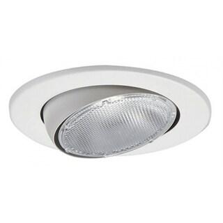 "Halo 5070P Adjustable Eyeball Trim Ring, 5"", White"