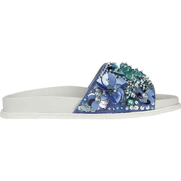 112cd5f8d3fe Shop Kenneth Cole New York Women s Xenia Pool Slide Sandal Blue Multi Sequin  Leather - On Sale - Free Shipping Today - Overstock - 20461509