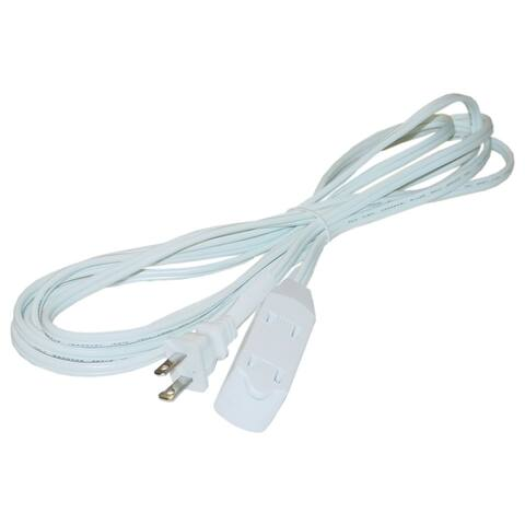 Offex 6ft 3 Outlet Power Extension Cord, UL/CSA White 16/2