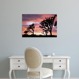 Easy Art Prints Steve Kazlowski's 'Joshua Tree Sunset' Premium Canvas Art