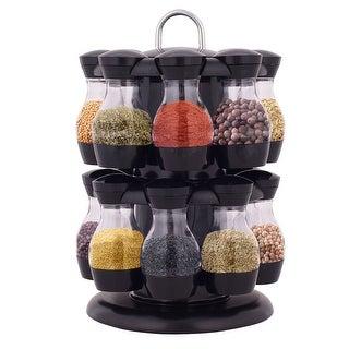 Costway 16 Jar Revolving Spice Rack Herb Rotating Countertop Storage Organization